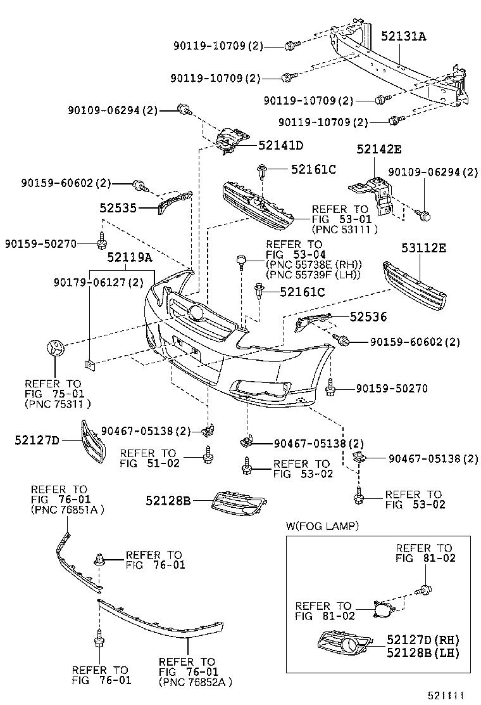 2004 Toyota Corolla Body Parts Diagram Schematic Diagrams Highlander Wiring Bumper Diy Enthusiasts U2022