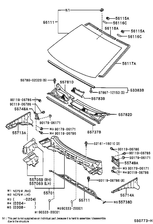 2002 Toyota Echo Exhaust System Diagram Schematic Diagrams Wiring Body Parts Diy Enthusiasts U2022 2003 Camry