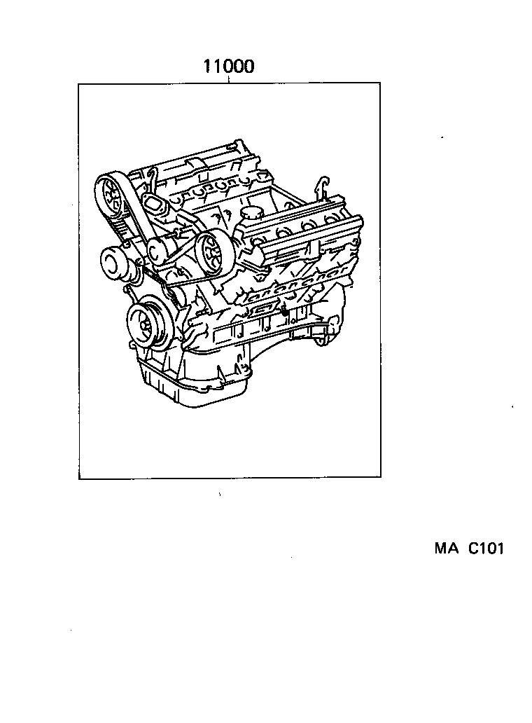 LS400 |  PARTIAL ENGINE ASSEMBLY