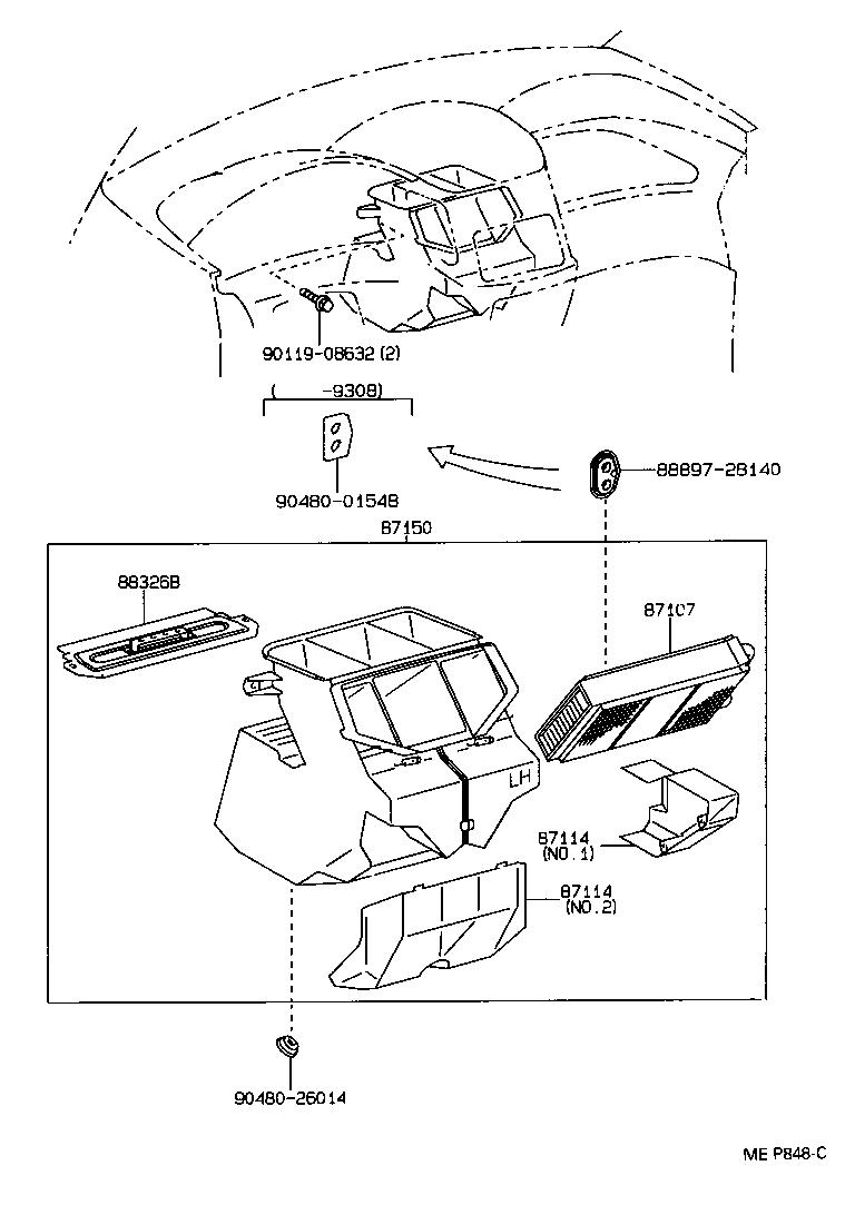 1997 Toyota Previa Parts Diagram ( Simple Electronic Circuits ) \u2022 1993  Toyota Previa Exhaust .