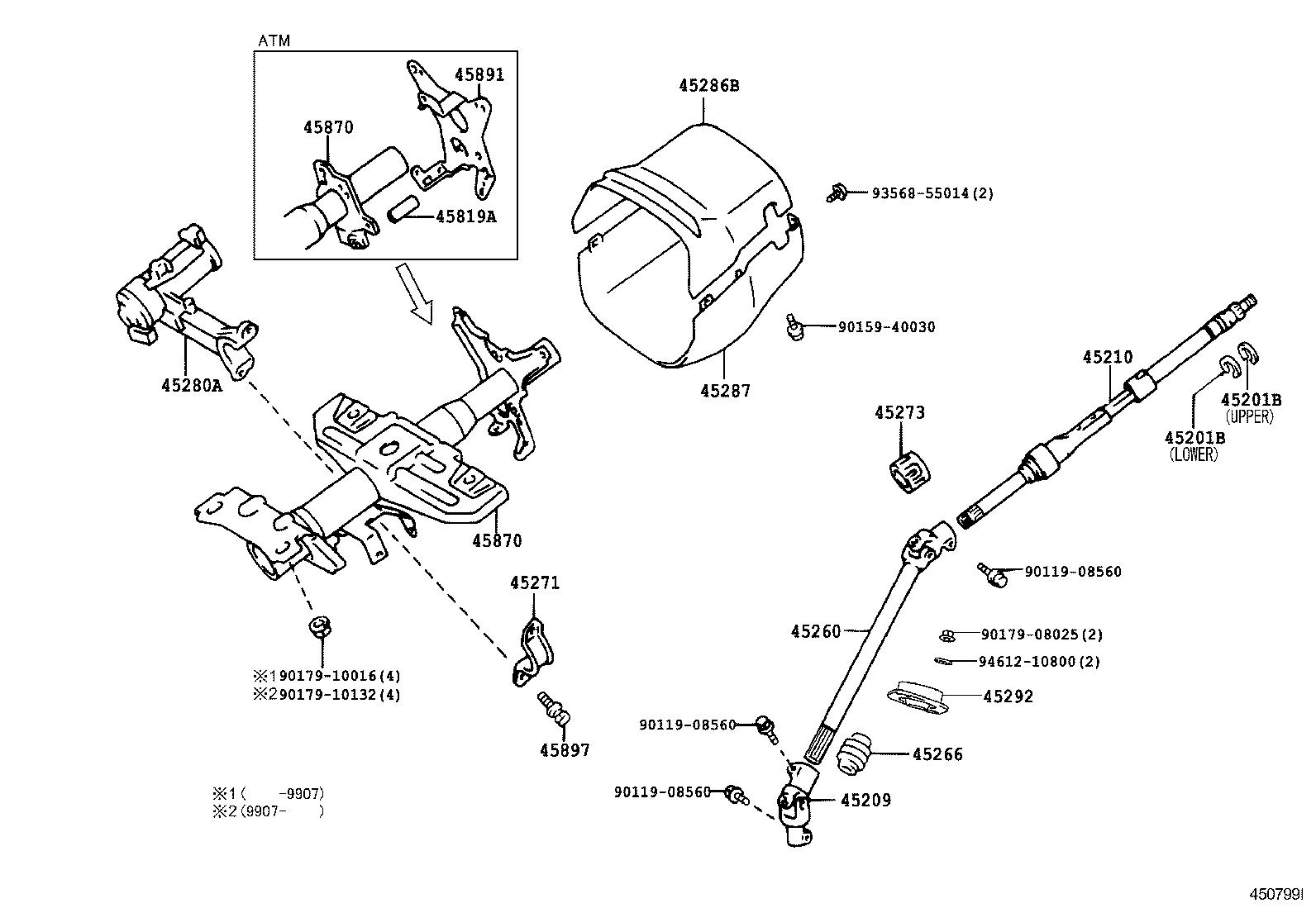 Toyota 8fgcu25 Steering Diagram