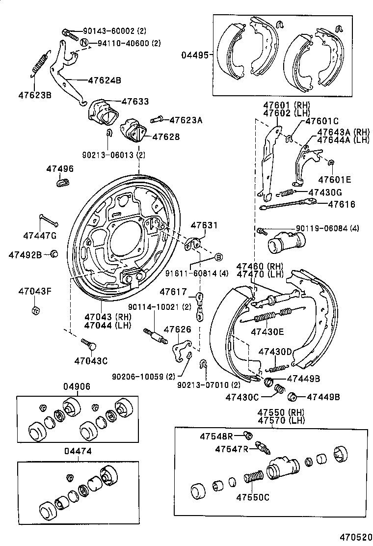 honda 250 recon brake diagram