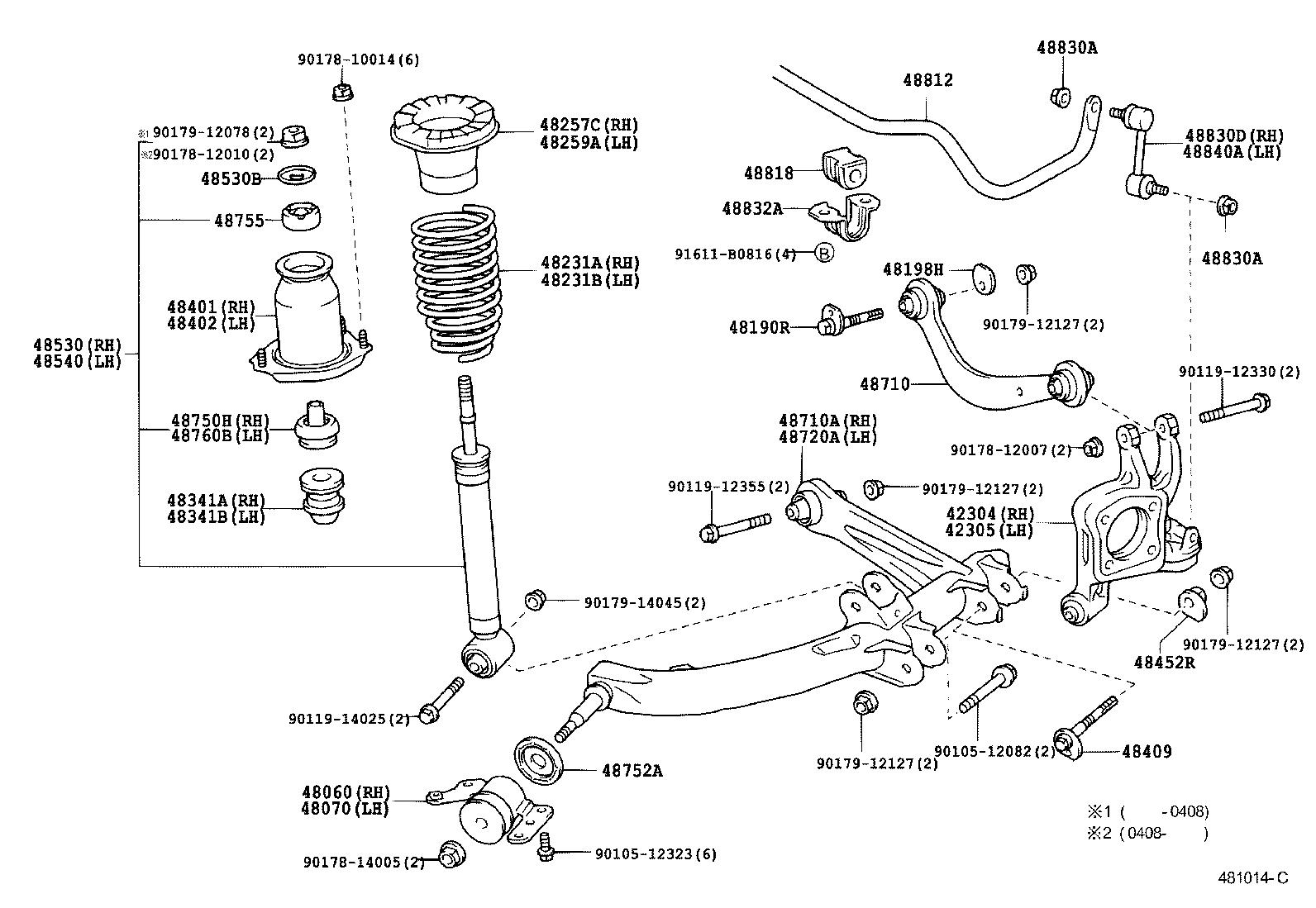 1999 toyota land cruiser suspension parts