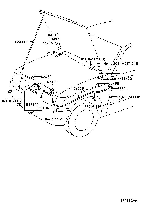 toyota 4runnervzn185l-gkpska - body