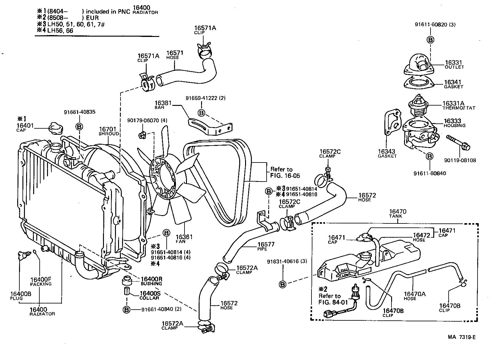 toyota hiace van comuterlh51lb-qr - tool-engine-fuel
