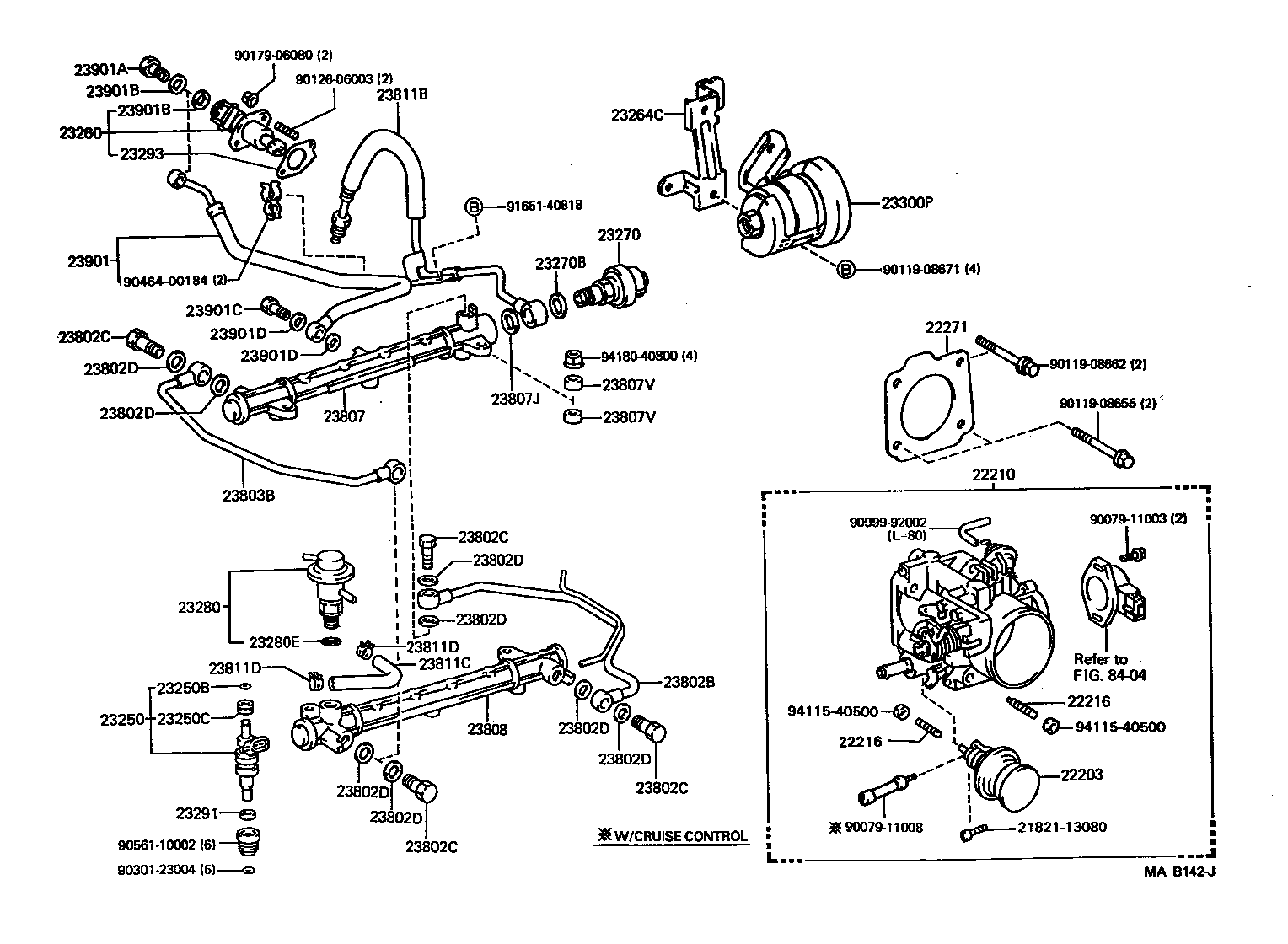 diagram of 22re fuel injection system