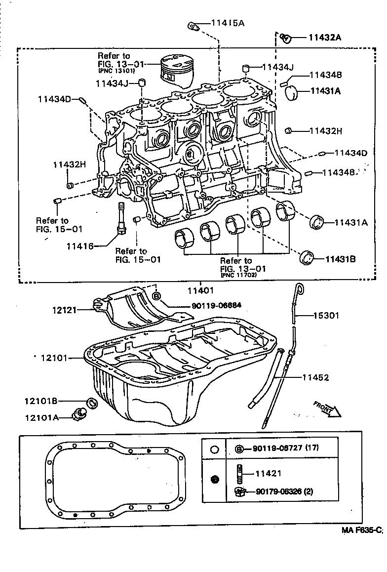 toyota carina est191r-aepnkw - tool-engine-fuel