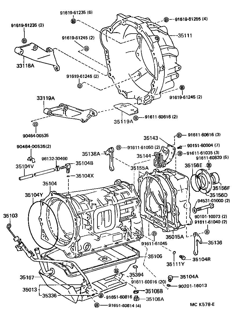 toyota land cruiser 80fzj80l-gcpnkw - powertrain-chassis