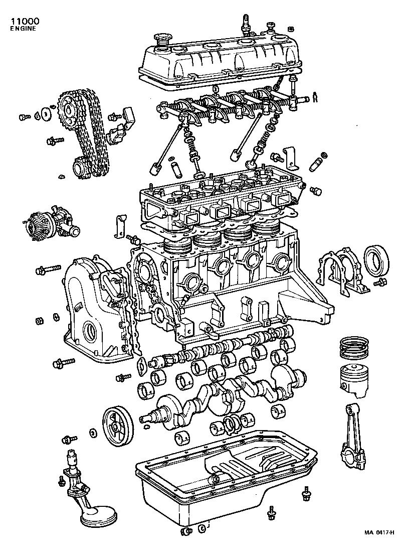 toyota carinata40rg-awkds - tool-engine-fuel