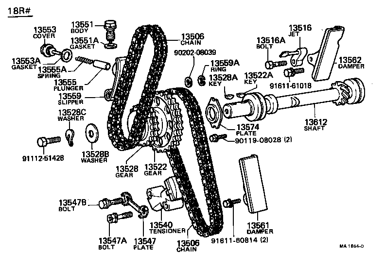 Toyota 2 4 Engine Timing Chain