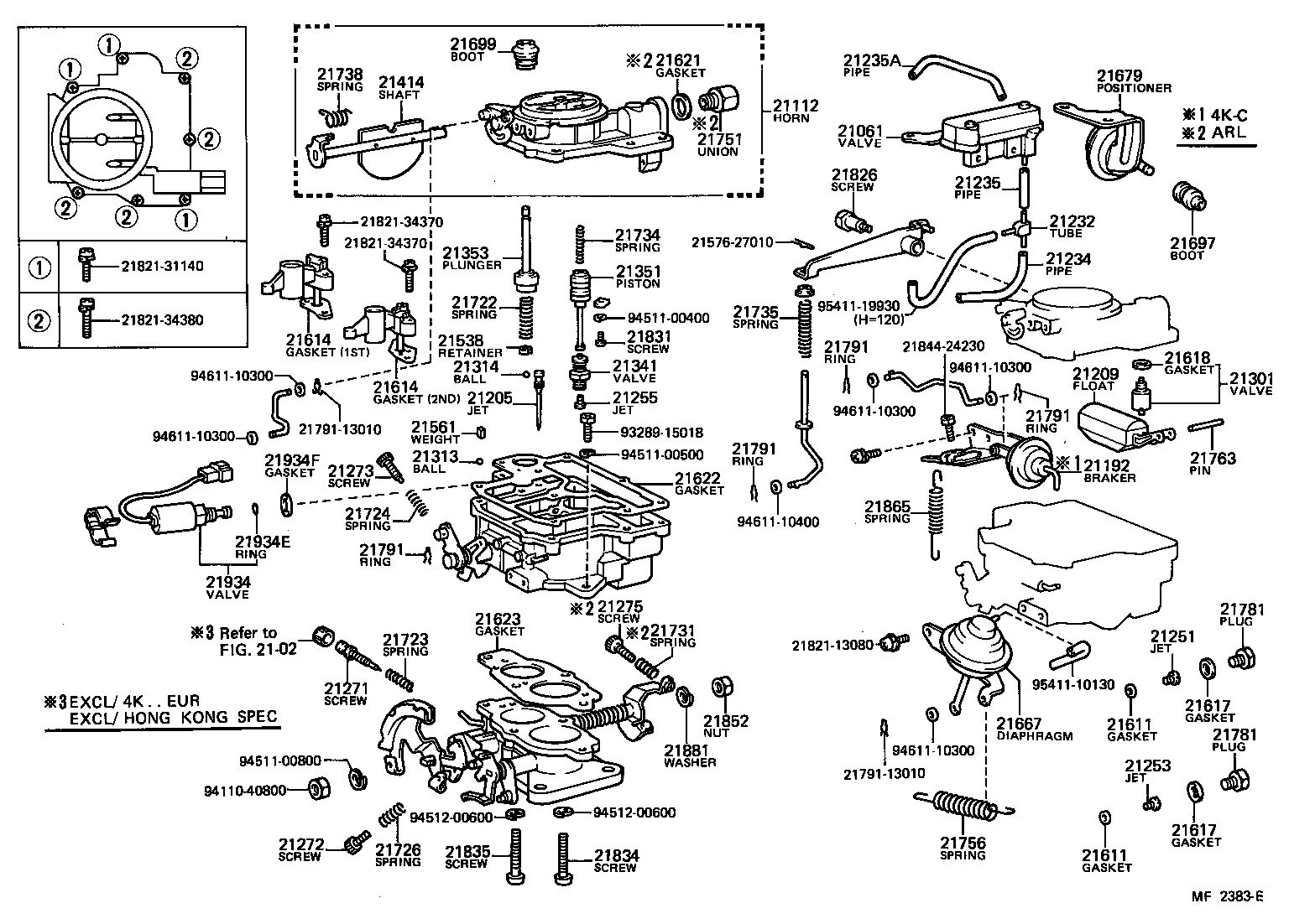 toyota liteacekm20rv-jrbe - tool-engine-fuel
