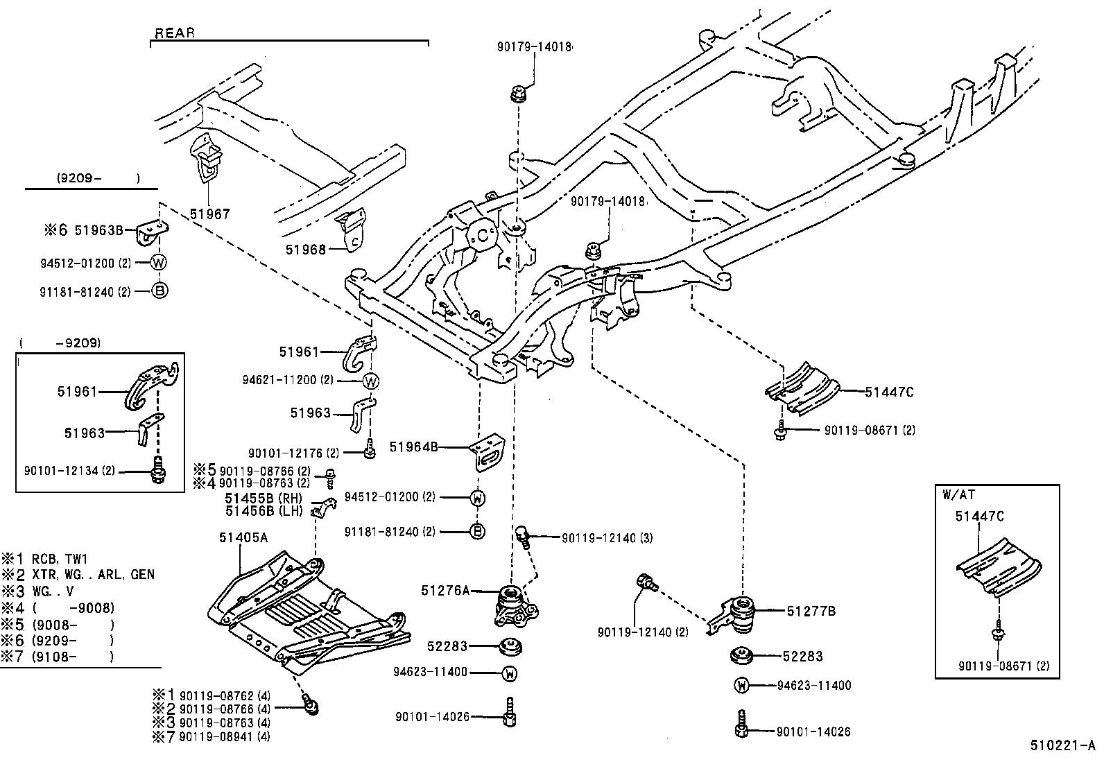 Toyota Hilux 4runnerrn105l Trmdsv Body Suspension