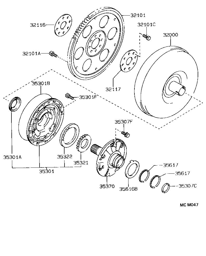 toyota corollaae100-aehdk - powertrain-chassis