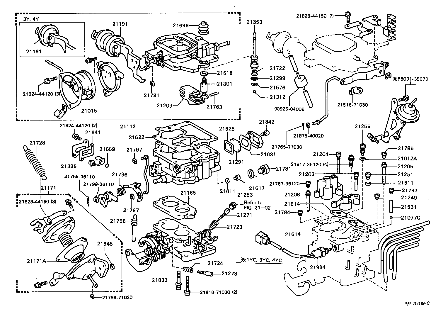 Carburetor diagram toyota on 1994 toyota 22re engine diagram