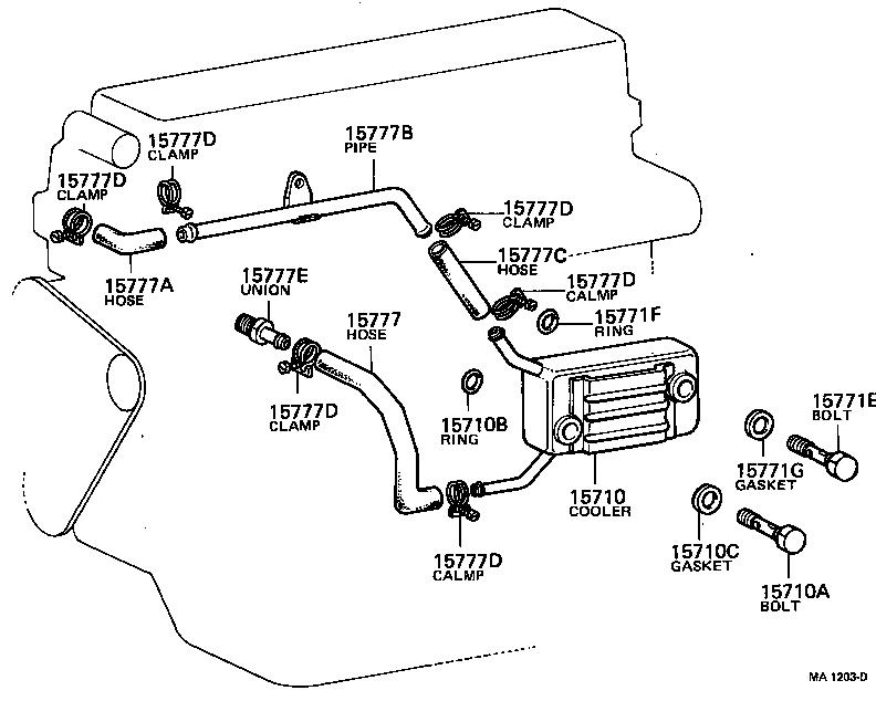 TOYOTA LAND CRUISER 40HJ45RP-K3 - TOOL-ENGINE-FUEL - ENGINE OIL