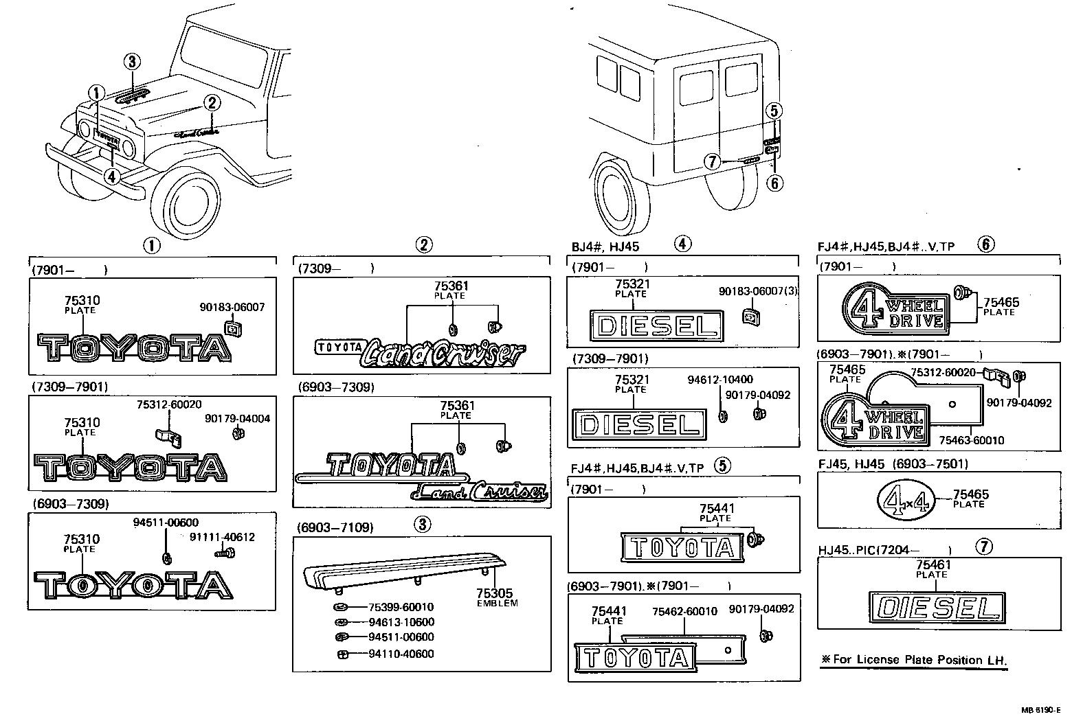 toyota land cruiser 40bj40-k - body