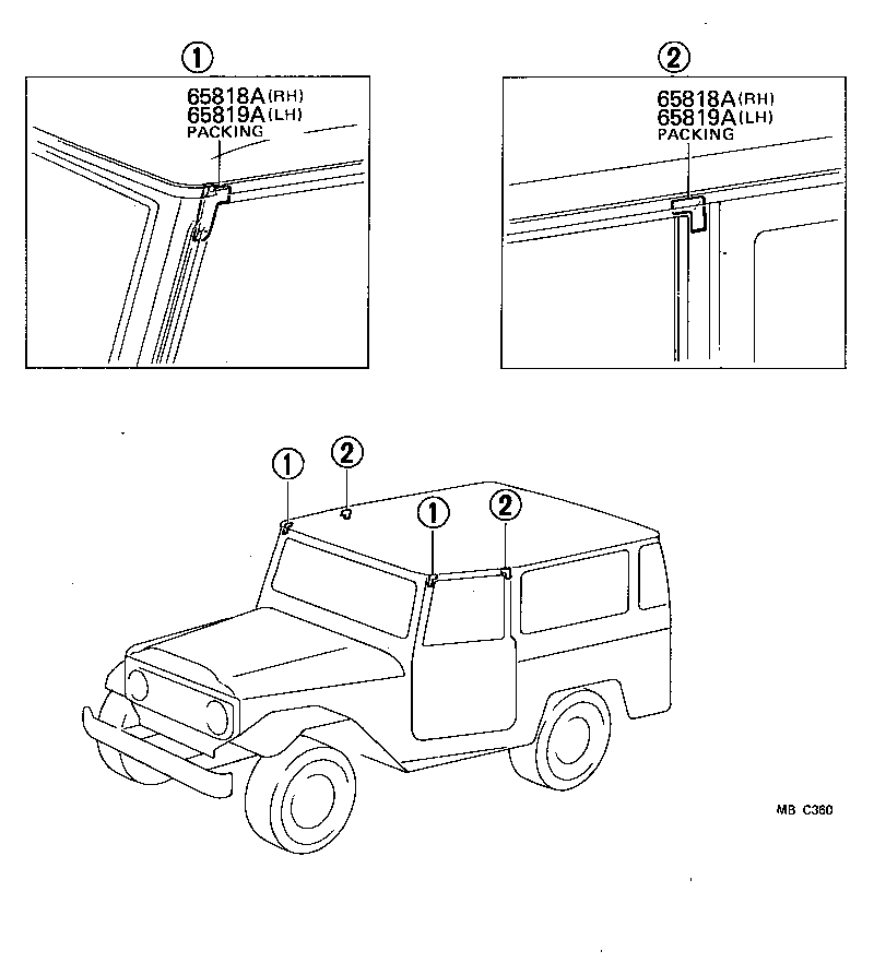 toyota land cruiser 40fj40- - body