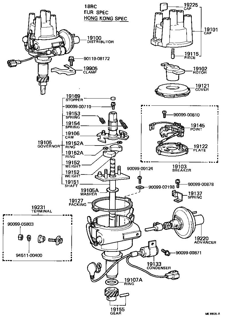 toyota hiluxrn46r-krw - tool-engine-fuel