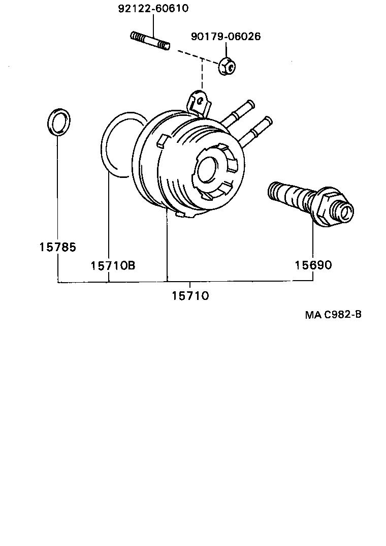 Toyota Celicast182 Ctmvf Tool Engine Fuel Oil Cooler Celica Diagram