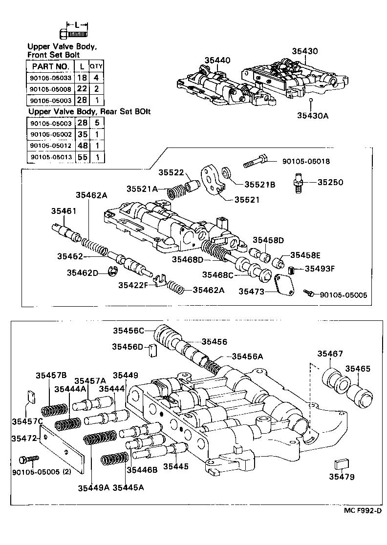 a43d valve body diagram