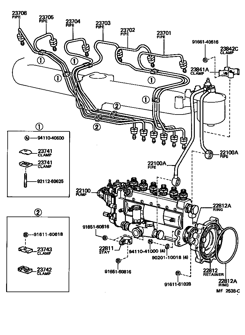 Toyota Fuel Pump Embly Diagram Toyota Auto Parts Catalog