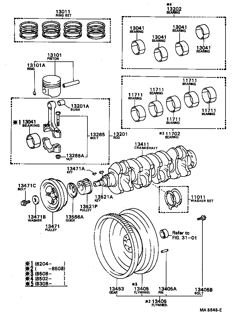 COROLLA |  CRANKSHAFT PISTON