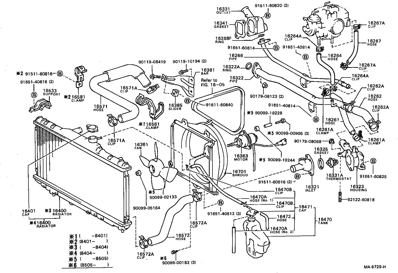 2009 toyota corolla radiator