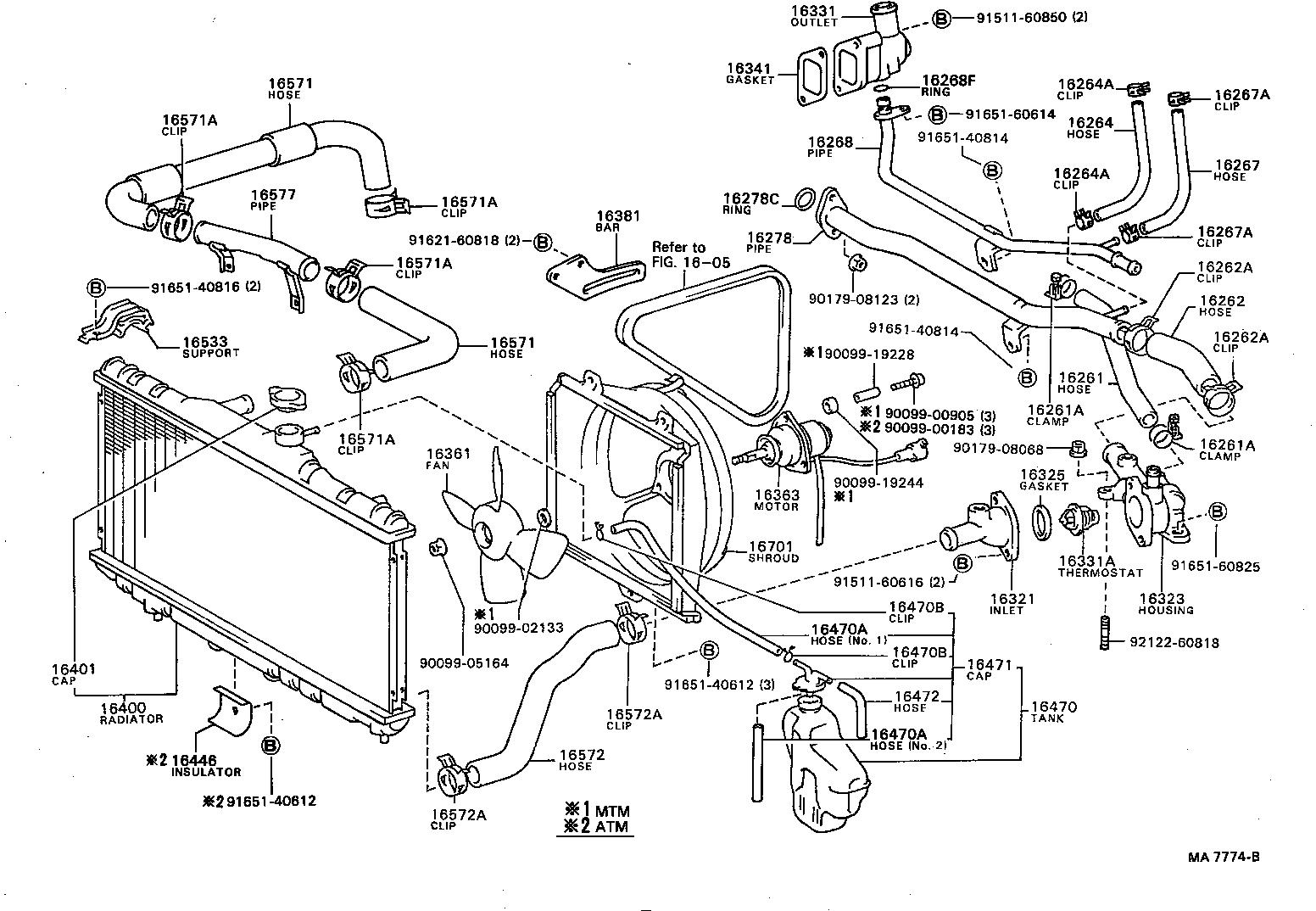 toyota corollaae82-femqf - tool-engine-fuel