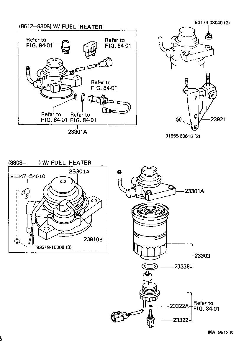 celica fuel filter