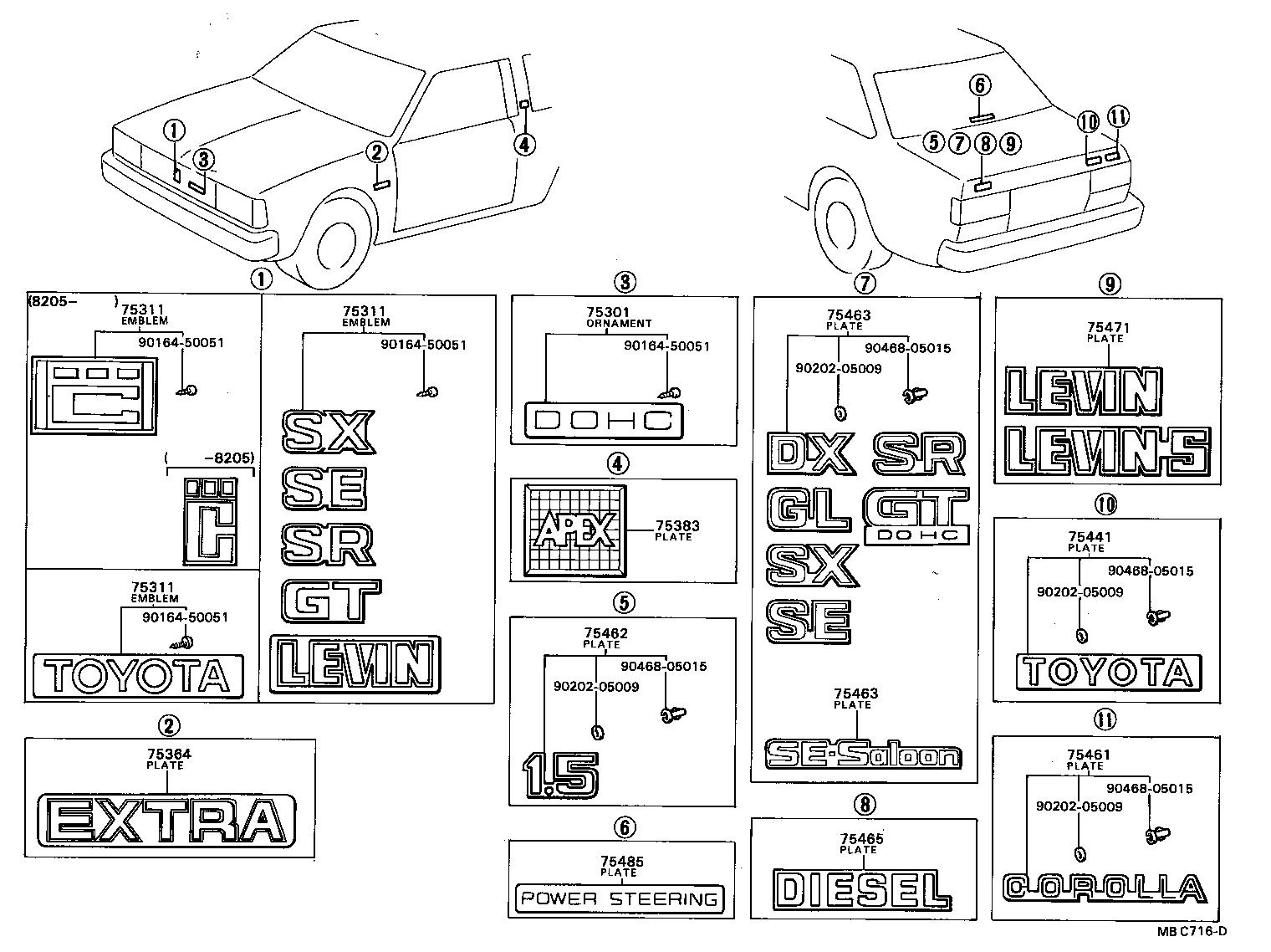 Toyota Corolla Interior Parts Diagram Toyota Auto Parts