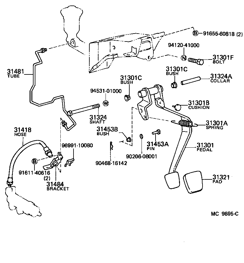 toyota corolla levinae86-esmvf