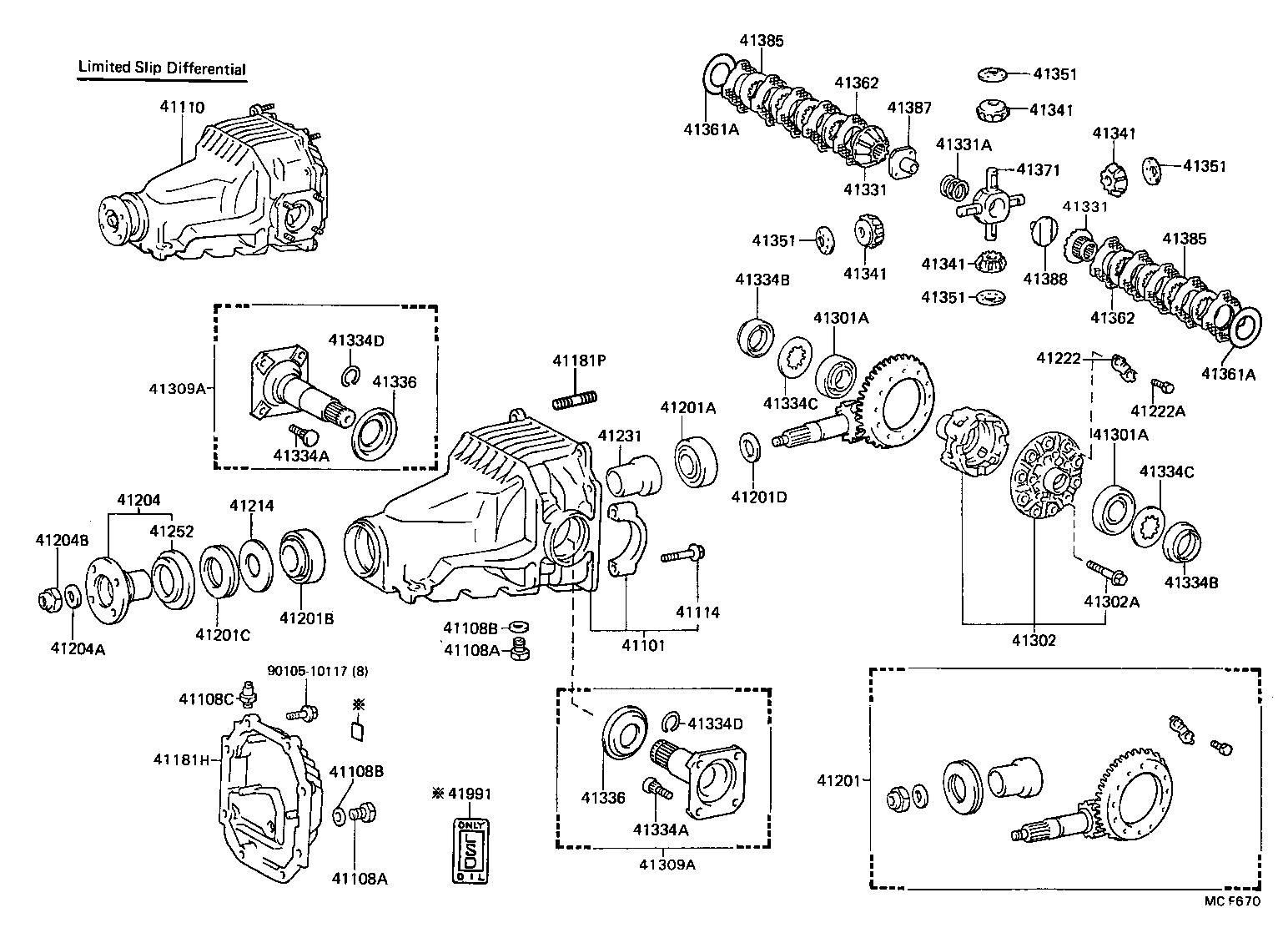 toyota supra differential diagram