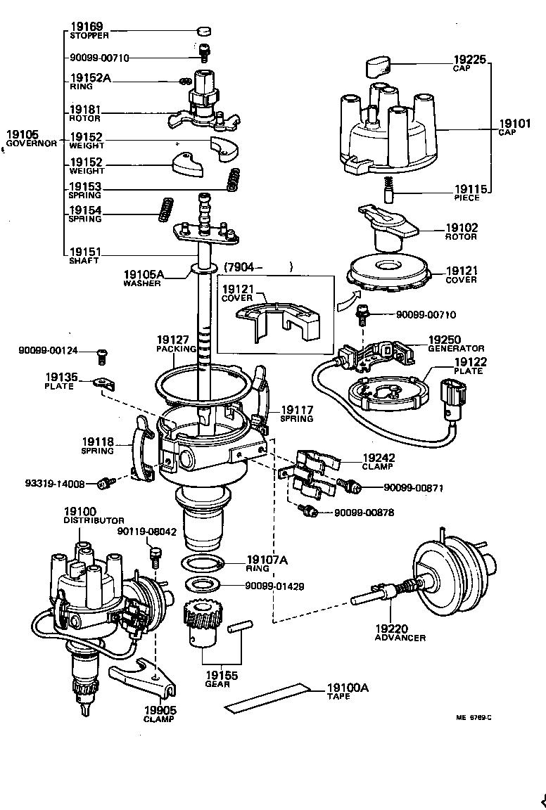 Toyota Corollake70-esmns - Tool-engine-fuel