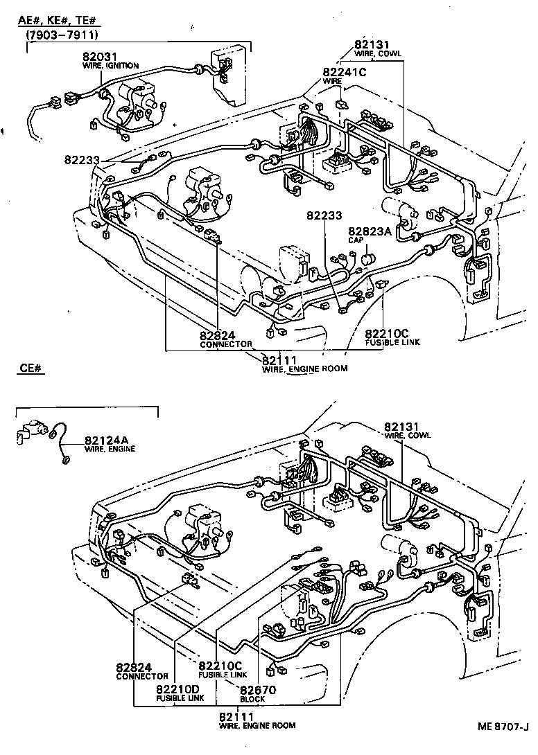 toyota corollake70-eskds - electrical