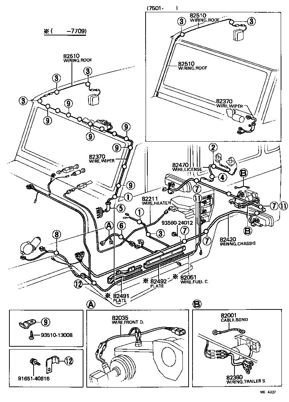 Toyota Land Cruiser 40 50bj40 Kcj Electrical Wiring Clamp Bj40 Diagram 50