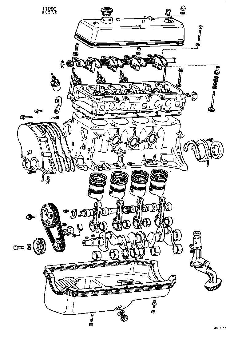 toyota starlet engine diagram
