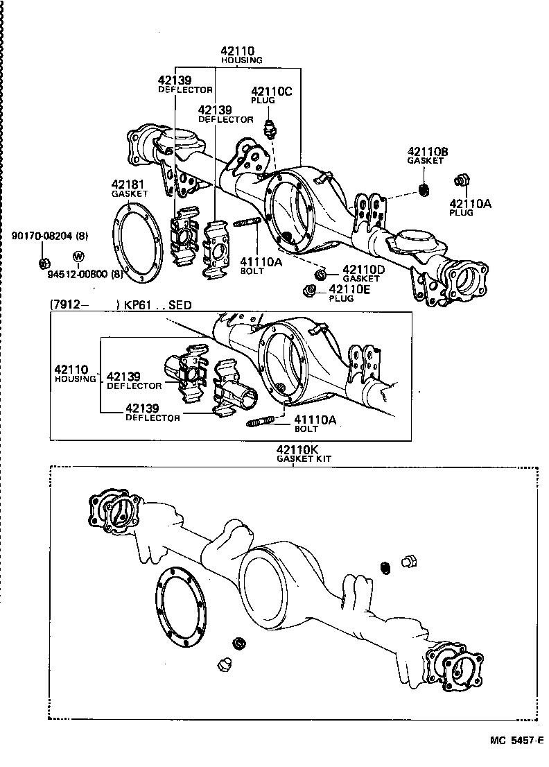 toyota starletkp61-pgkds - powertrain-chassis