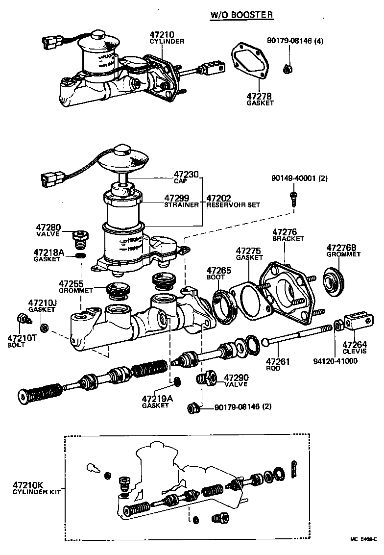 toyota starletkp61-phhgs - powertrain-chassis