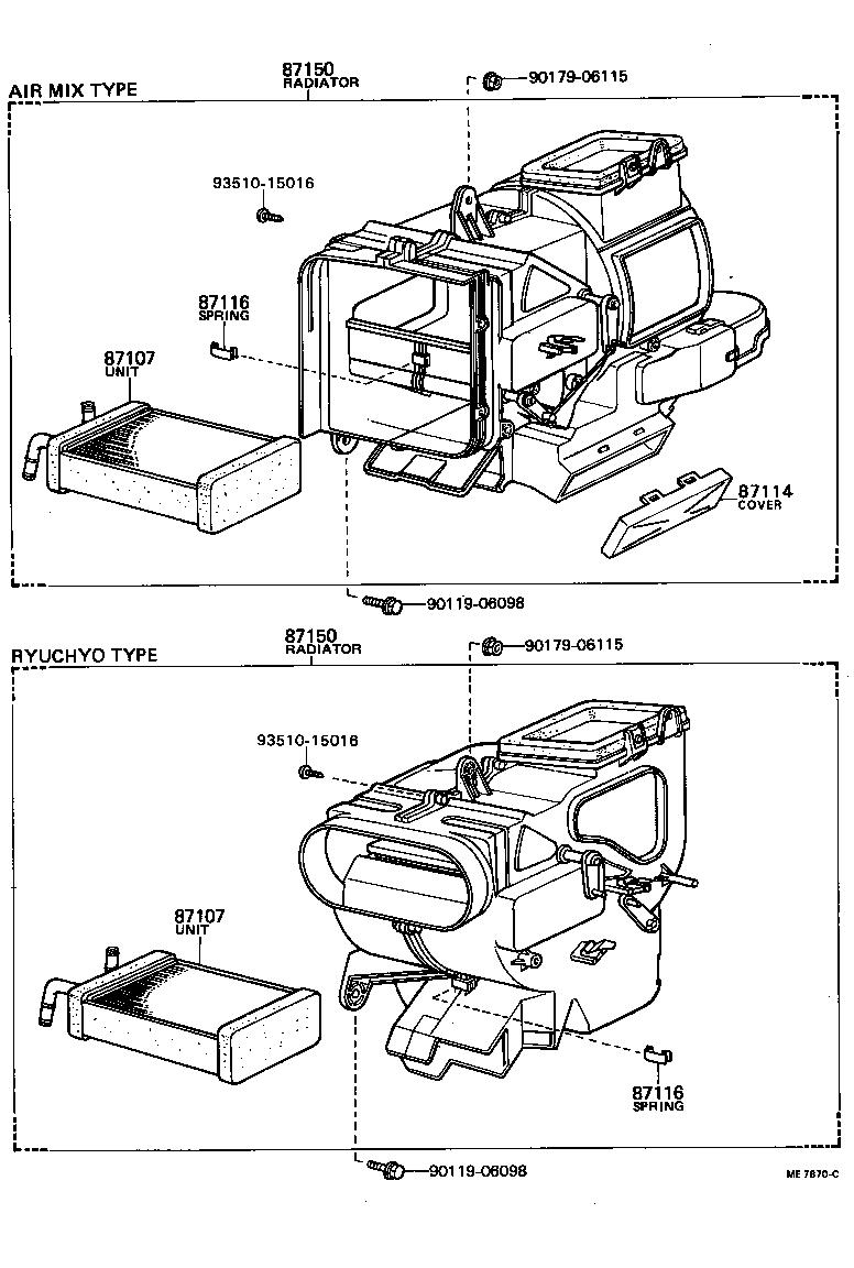Toyota Sprinterke70 Fecds Electrical Heating Air Conditioning Ke70 Tail Light Wiring Diagram Std Part