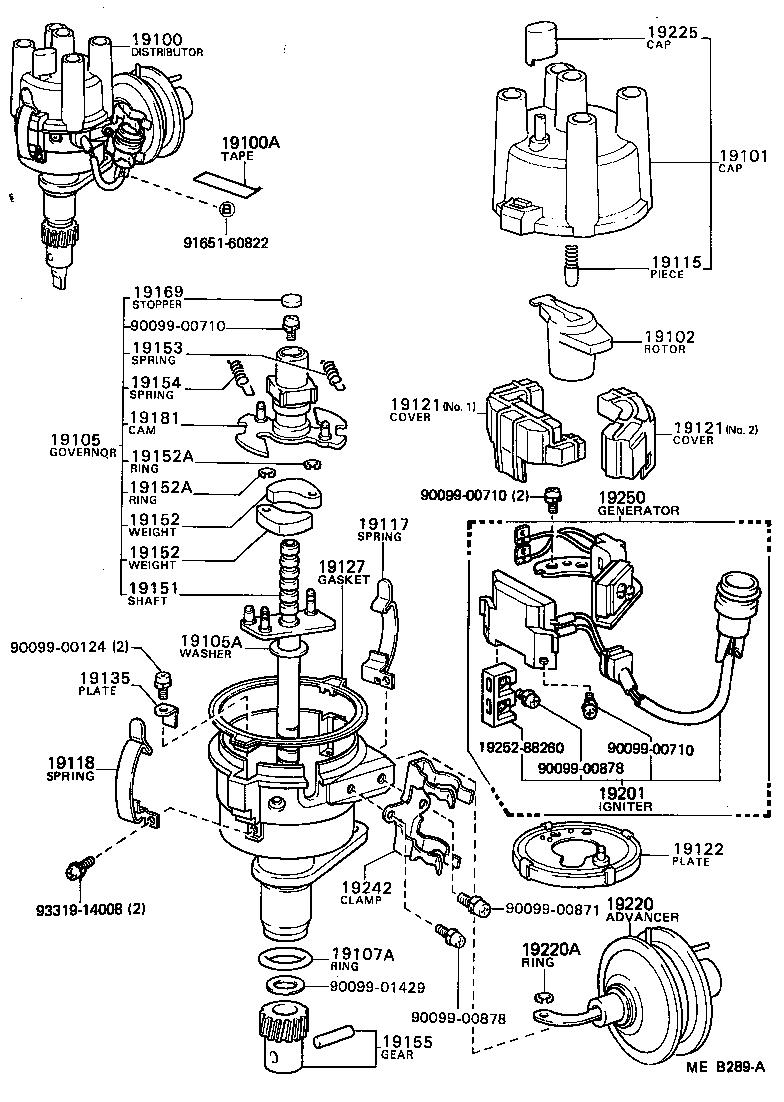 toyota starletkp61-phhgs - tool-engine-fuel