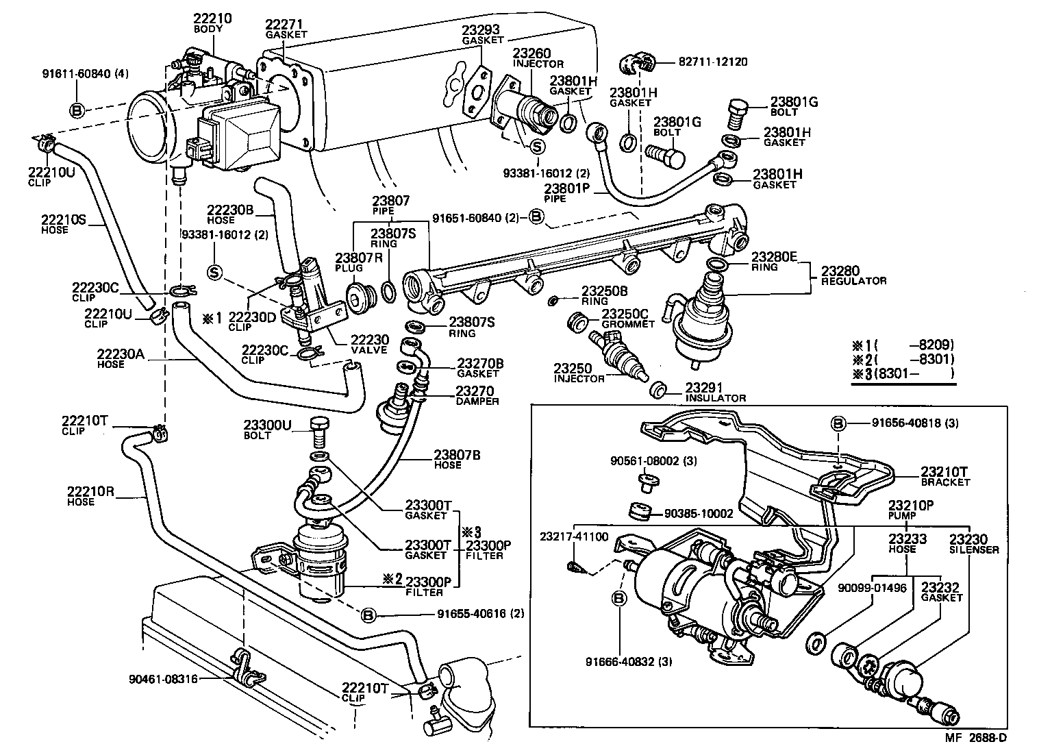 Toyota Celicata61 Bcmxf Tool Engine Fuel Injection System Efi Wiring Diagram Std Part