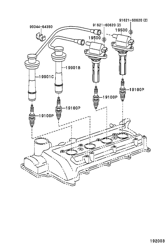 Toyota Avanzaf601rm Gmmej Tool Engine Fuel Ignition Coil Spark 2009 Corolla Diagram Std Part