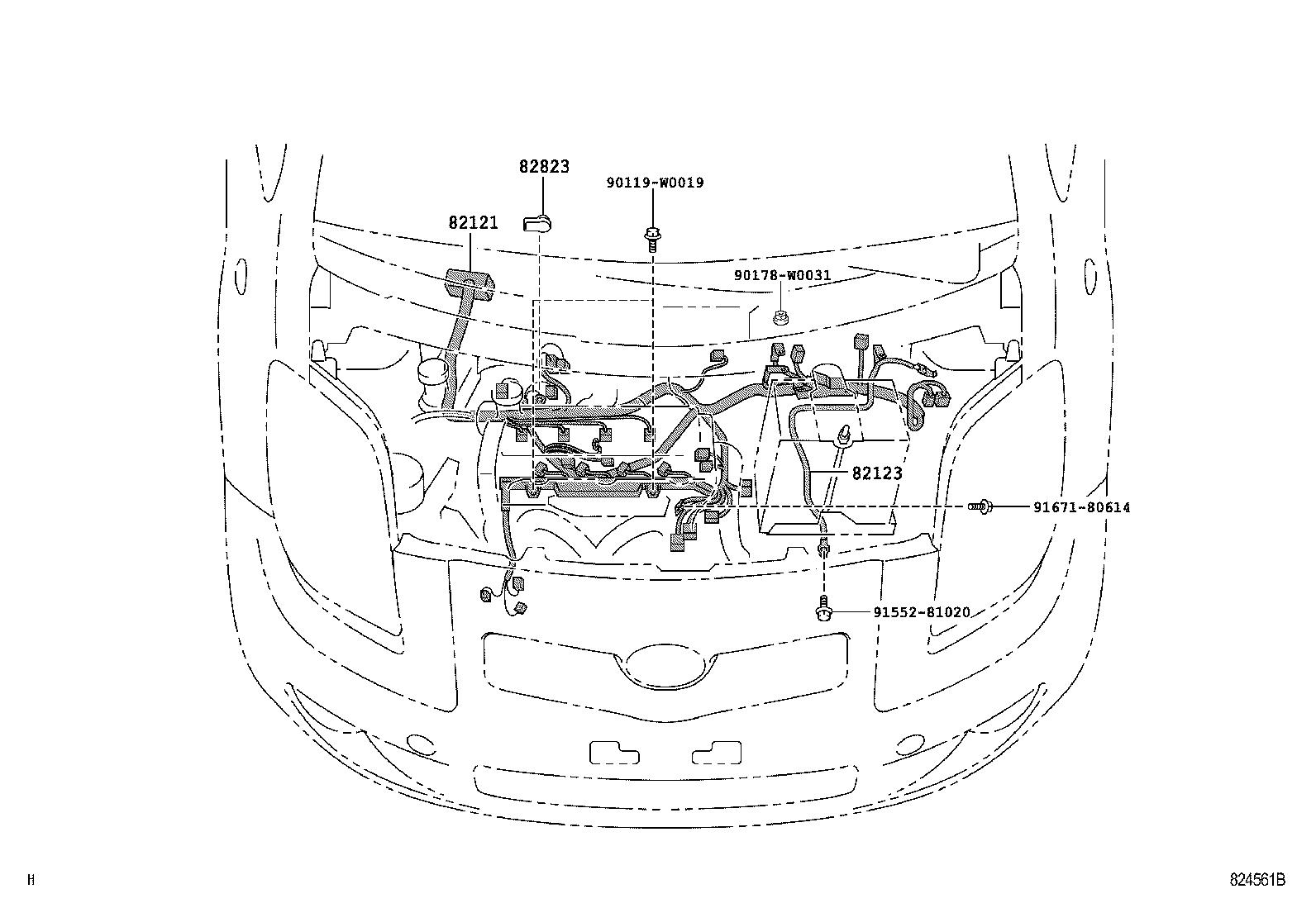 toyota yarisscp90l-chmgkw - electrical