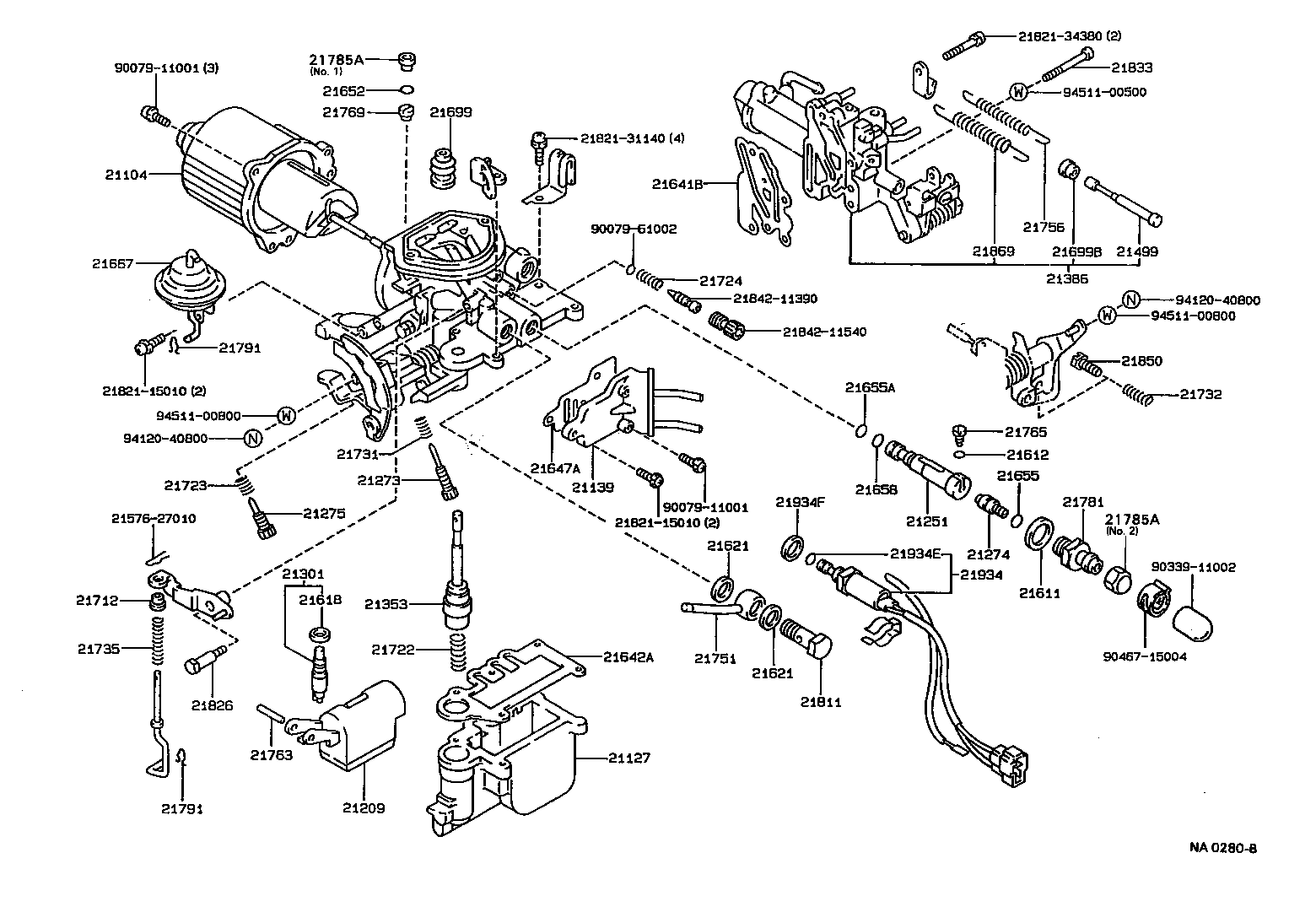 Toyota Corollaee90l Agmdsw Tool Engine Fuel Carburetor Japan 1992 Tercel Wiring Diagram Register